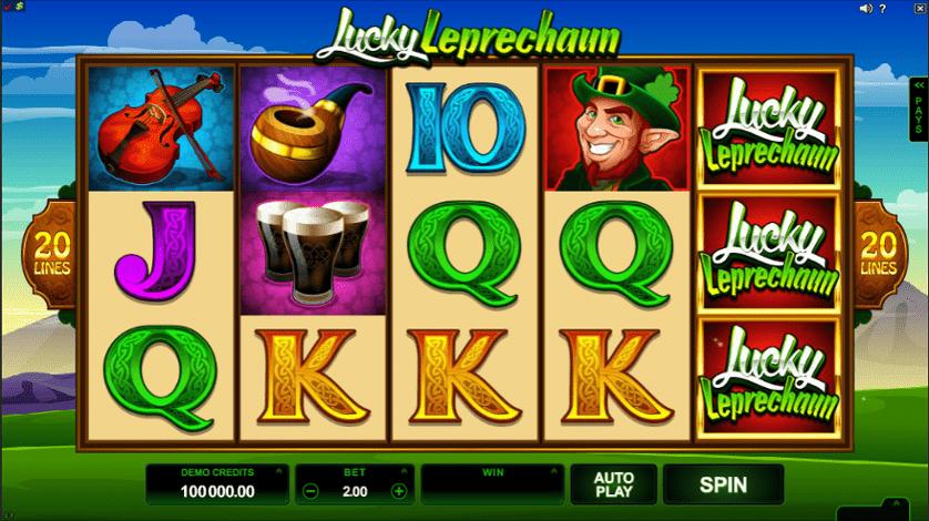 Lucky Leprechaun slot screenshot
