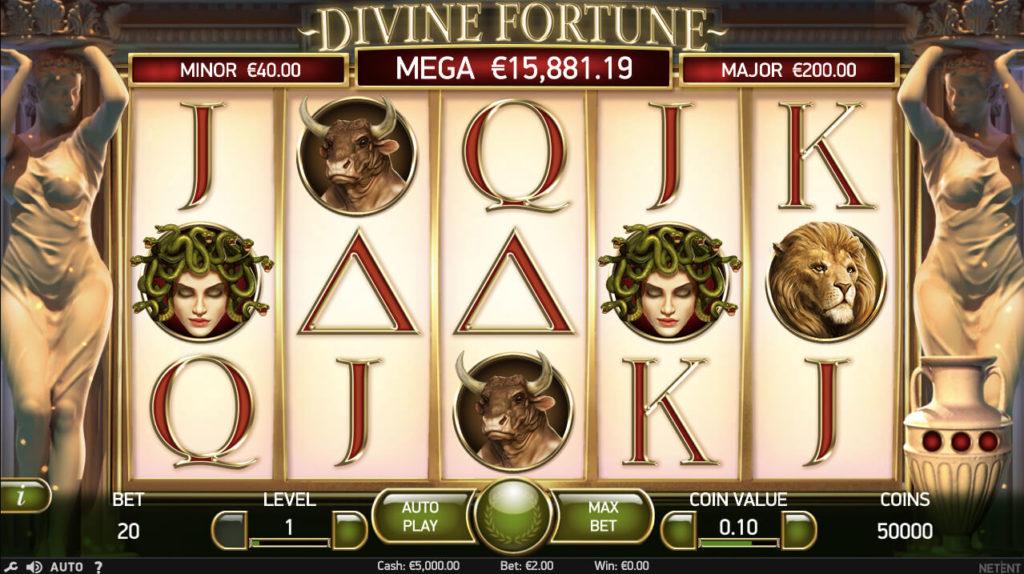 Divine Fortune slot gameplay